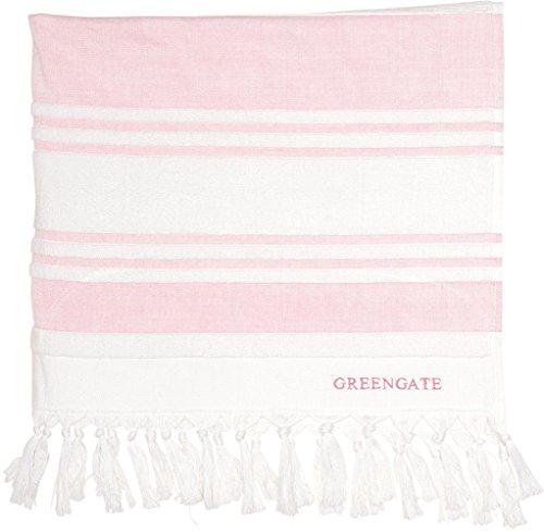 GreenGate Handtuch - Hammam Towel - Stripe Pale Pink 90 x 150 cm