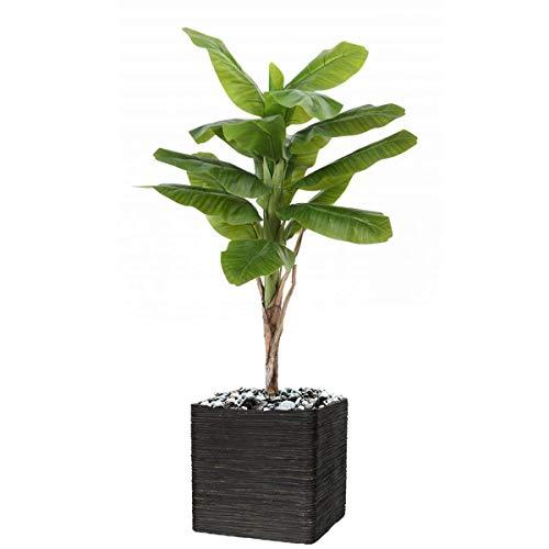 Artificielles.com – Bananero artificial en maceta (altura 120 cm, 15 hojas de 80 cm de diámetro), 120 cm de altura, color verde