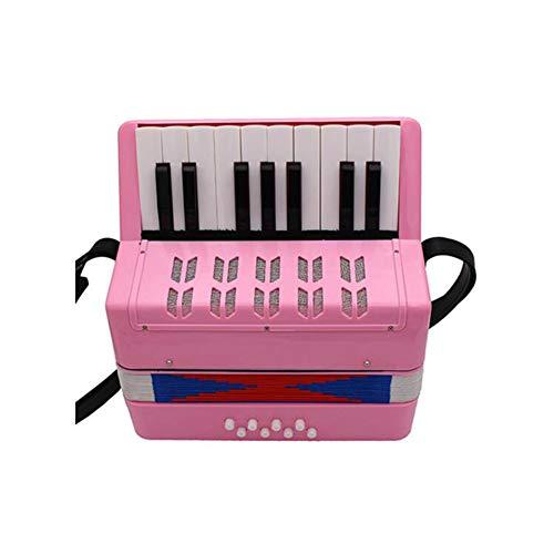 WANDIC - Accordión infantil con 17 llaves de juguete para acordeón individual y para montar instrumento musical para la enseñanza en la primera infancia