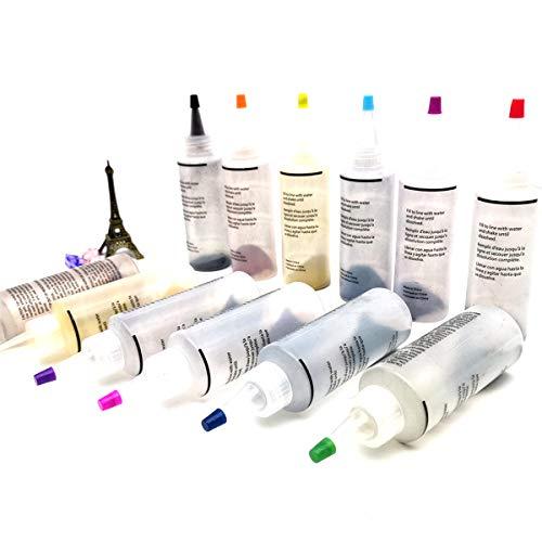 Fabric Paint Set,12 Colors for Tie-dye Kit Clothing Textile Paint for T-Shirt Canvas Shoes Craft Wood Ceramic Glass FolkArt 4OZ/120ML (12PCS 4OZ (0.34oz/1pcs), 12 Color)