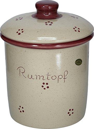 """Rumtopf (Steinzeug """"Rubin"""" * Kleiraba-Steinzeug wird bei ca.1.250 °C in energiesparenden Erdgas-Br)"""