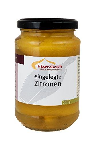 Marokkanische Eingelegte Salzzitronen Zitronen von Marrakesch - 200g Netto Abtropfgewicht (EUR 4,49/100g) (200 Gramm)