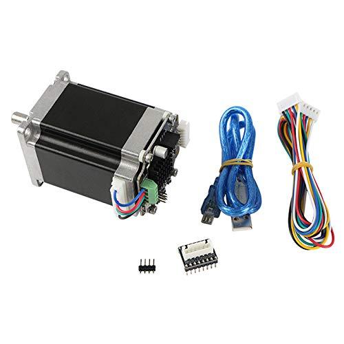 DomilayPiezas de la Impresora 3D Circuito Cerrado NEMA23 Motor Paso a Paso MKS SERVO57A NEMA 23 el Servomotor Evita la PéRdida de Pasos Sin Pantalla