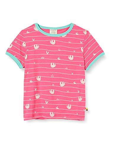 loud + proud Mädchen Allover Print Organic Cotton T-Shirt, Rosa (Azalea Aza), (Herstellergröße: 74/80)
