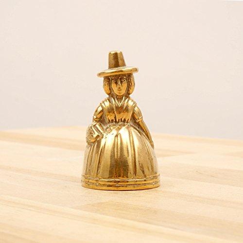 Celtic Lady Brass Hand Bell - Jenny Jones || Vintage Solid Brass || Miniature Bell