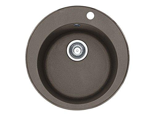 Franke Pamira ROG 610-41 Umbra Granit Küchenspüle rund Spülbecken Grau Einbau