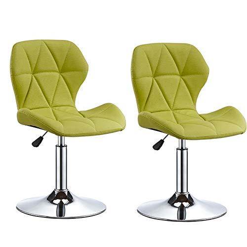 Colazione Pianale da cucina Sgabelli da bar Set di 2 pezzi Altezza regolabile 74-89 cm Seduta Bar Sedie gambe in metallo Sgabelli sgabelli alti Sgabelli da Pranzo per la Colazione ( Colore : Verde )
