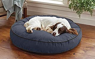 Orvis Comfortfill-eco Round Dog's Nest/Large Dog Bed - Dogs 45-70 Lbs, Blue