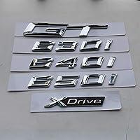 OceanAutos BMW6シリーズの場合640i650i 630i 640d 630d Xdrive GT、3DAbsリアブーツTailagteリッド番号レタリングデカールカーバッジエンブレムロゴ