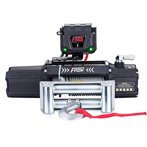FROM ANT Series Electric Winch 12500lbs 6.0Hp 12V with Wire Rope and Wireless Remote Controller for Towing ATV UTV Jeep Trailer Truck Boat