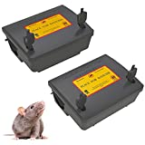 2 Pack Rat Bait Stations Rodent Trap, Reusable Mouse Traps Outdoors with...
