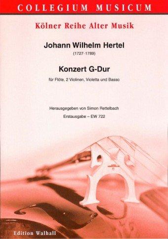 Konzert G-Dur : für Flöte, 2 Violinen, Violetta und Bc Partitur (Bc nicht ausgesetzt)