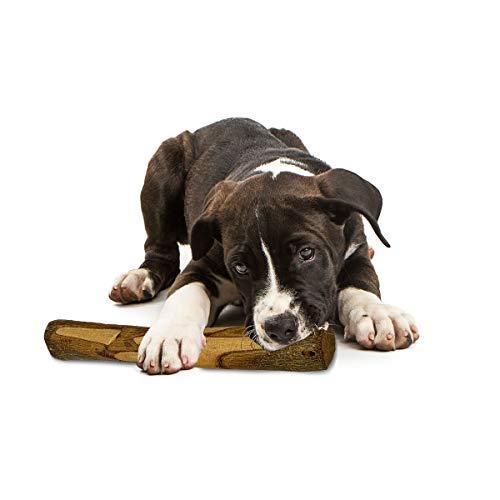 PetLove - Osso da masticare per cani in legno di ulivo, naturale, non si scheggia, per la cura dei denti del cane