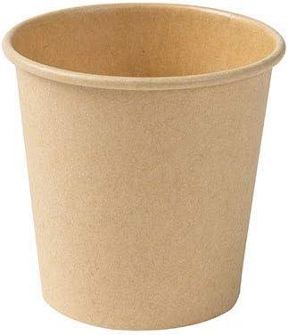 BIOZOYG Taza ecologica para café de Papel marrón sin blanquear I Taza de café expreso cata I 50 Piezas Taza café para Llevar desechable Biodegradable 100 ml 4 oz