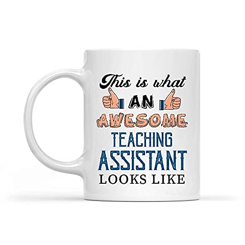 N\A Awesome Teaching Assistant Taza Blanca de 11 oz
