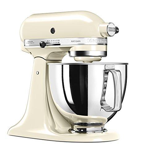 KitchenAid 5KSM125EAC Artisan Küchenmaschine (300 Watt, mit Grundausstattung) crème