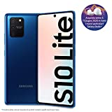 samsung galaxy s10 lite smartphone, display 6.7 super amoled, 3 fotocamere posteriori, 128 gb espandibili, ram 8 gb, batteria 4500 mah, 4g, hybrid sim, android 10, [versione italiana], prism blue