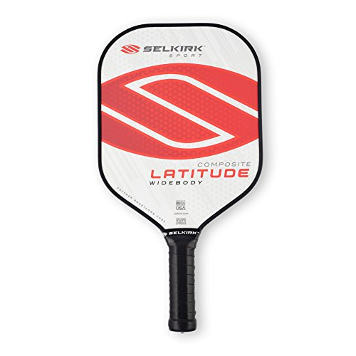 Selkirk Latitude Widebody Composite Pickleball Paddle - USAPA Approved - PowerCore Polymer Core - PolyFlex Composite Surface - EdgeSentry Protection - ThinGrip Handle (Red Force)