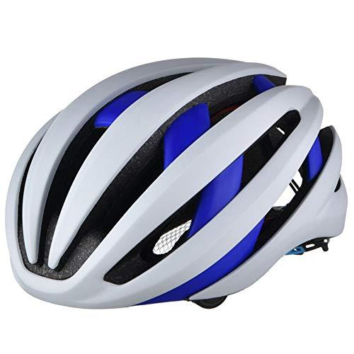 4.1 Bluetooth Blanco & Blue Bike Casco de Ciclismo Detachable Advertencia Tras...