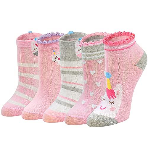 PUTUO Calcetines Niña Divertidos Algodón: Calcetines Cortos Niñas Calcetines con Motivo...