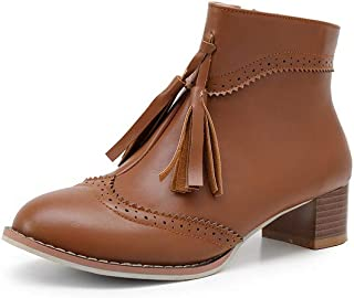 BalaMasa Womens ABS13863 Leather Boots