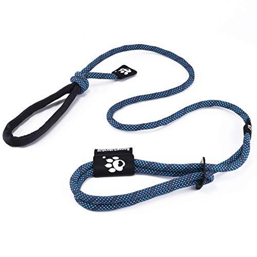 PETTOM Guinzaglio con Pettorina Collare per Cani 3 in 1 Freestyle Riflettente Regolabile Guinzaglio Retriever 1.2m-1.5m Corda Montagna Nylon con Maniglia Comoda per Addestramento Passeggio Blu
