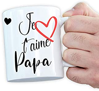 Mug personnalisé papa - Cadeau original - Déclaration d'amour - Tasse magique - Je t'aime papa