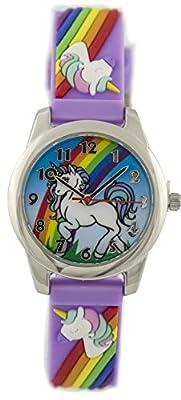 Reloj de pulsera con diseño de unicornio para niñas y niños (BK007)