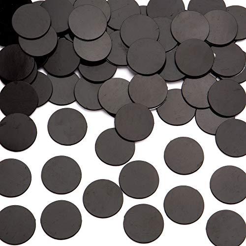 Baker Ross Selbstklebende Magnetscheiben, schwarze Bastel-Magnete um Dekorieren, 100 Stück