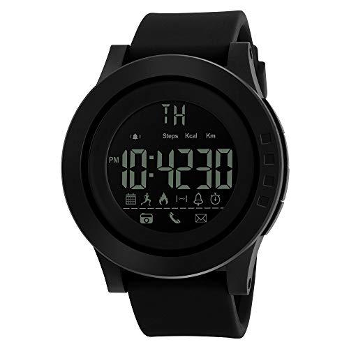 OPAKY Deportes Impermeable Bluetooth Inteligente Reloj Cámara de Teléfono para Smartphone para Niños Mujeres Hombres, Negro