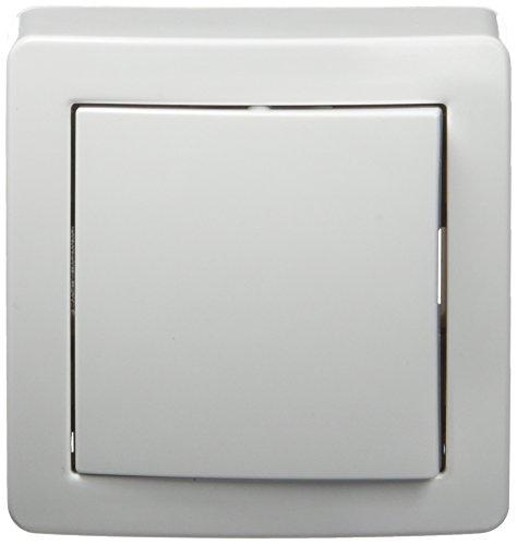 Schneider Electric SC5SHN0262051P Alrea Interrupteur va et vient avec cadre saillie, Blanc