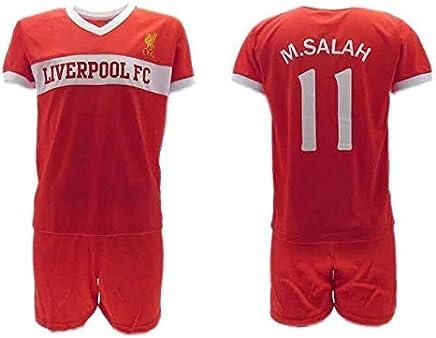 f5c85acb8 Officiel Kit de Football Mohamed Momo Salah 10 Liverpool Rouge Reds Home  2018-2019 Replica