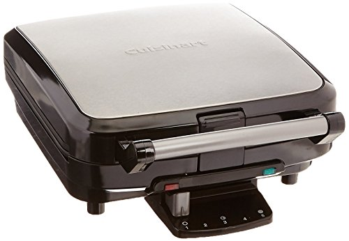 Cuisinart WAF-150 4-Slice Belgian Maker Waffle Iron, Single, Silver