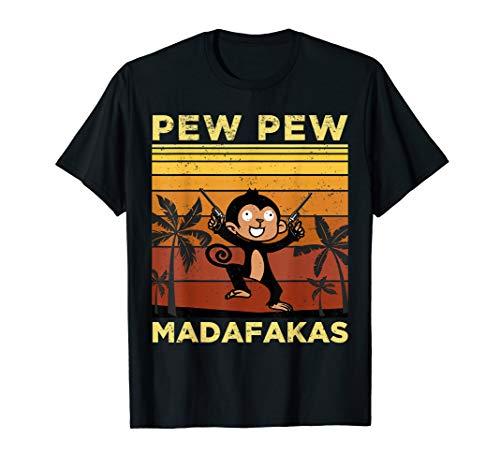 Pew Pew Madafakas Affe mit Waffe T-Shirt