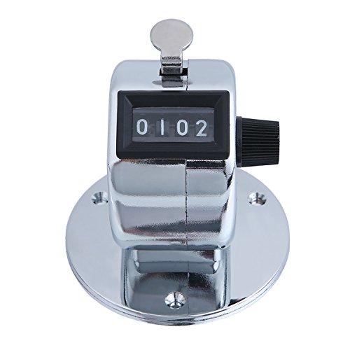 Handzähler mit Montagefuß - verchromtes Metall - Zähler Schrittzähler Counter
