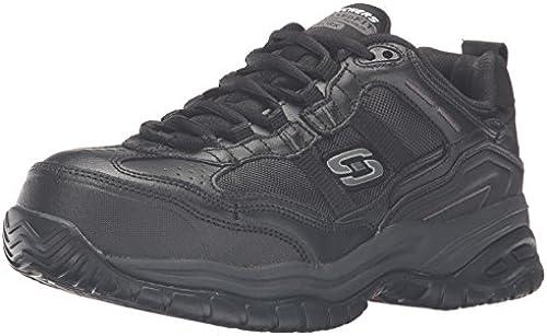 Skechers Men& 039;s Work Relaxed Fit Soft Stride Größel Comp, schwarz - 13 4E US