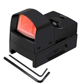 AWOTAC Red&Green Dot Reflex Sight Tactical Optics Waterproof Pistol Laser Scope with Adjustable 22mm Rail Mount for Handgun Glock Rifle