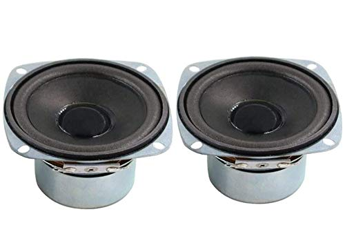 10W Mini 3' HiFi Full Range Speaker 8 Ohm Anti-Magnetic Audio 2.0/2.1 Home Stereo Woofer Loudspeaker 90dB High Sensitivity for DIY Boom Box Satellites Speaker
