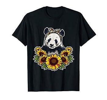 Cute Love Panda Gift Sunflower Decor Panda T-Shirt