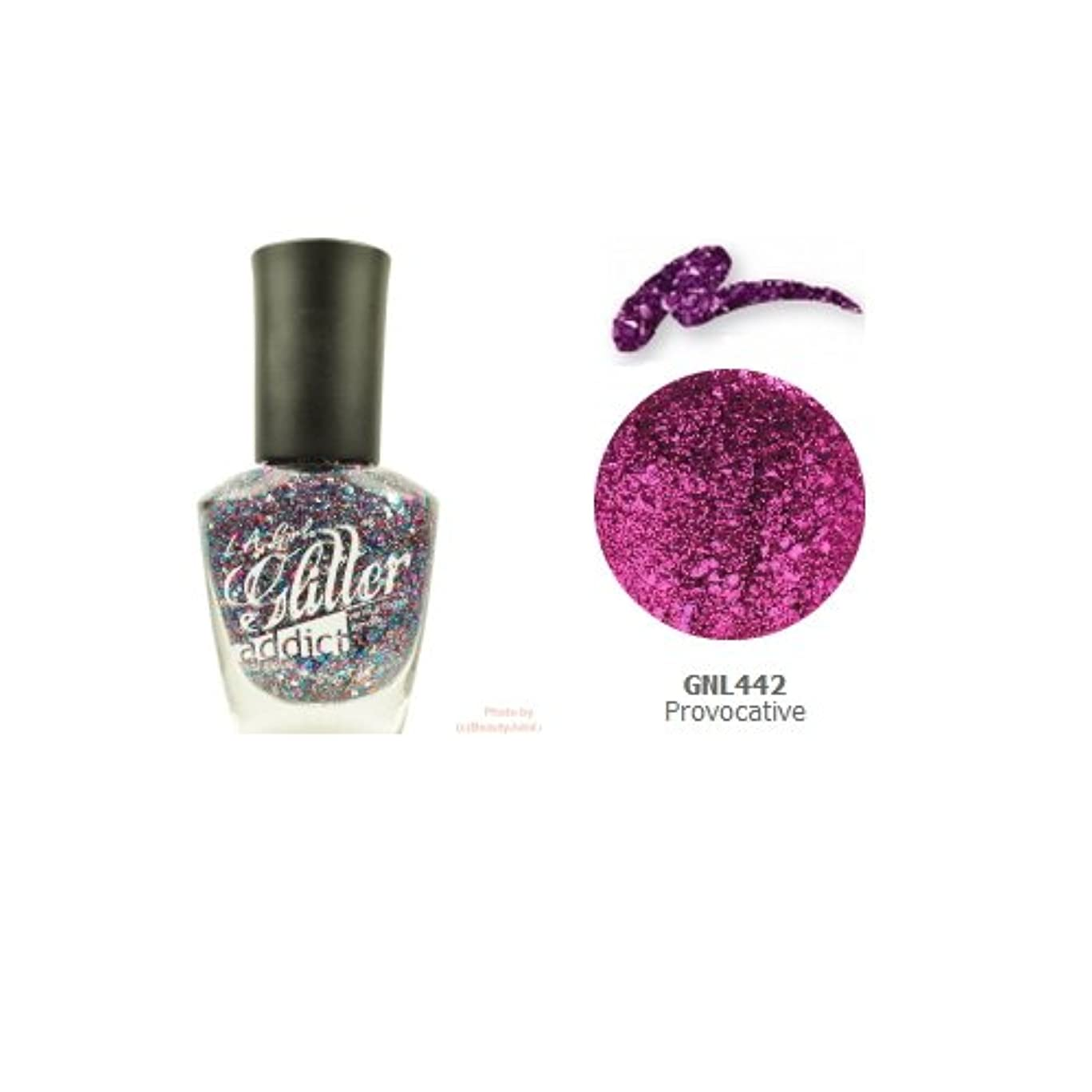 皿侵入落ち着いて(6 Pack) LA GIRL Glitter Addict Polish - Provocative (並行輸入品)