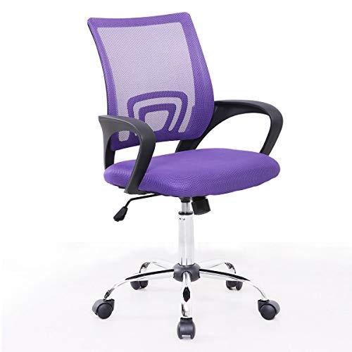 SVITA Cydney Kinder Schreibtischstuhl Bürostuhl Netzbezug Drehstuhl Stuhl Schreibtisch (Lila)