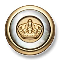 ブレザー ・ ジャケット 用 高級 メタル ボタン < 蝶貝 > EX-25-G ゴールド 21mm [ EXCYメタルボタンコレクション ]