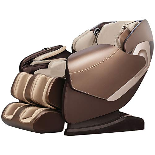 Real Relax SL-Track Shiatsu Massage Chair Recliner with Music Sync Massage, Champagne