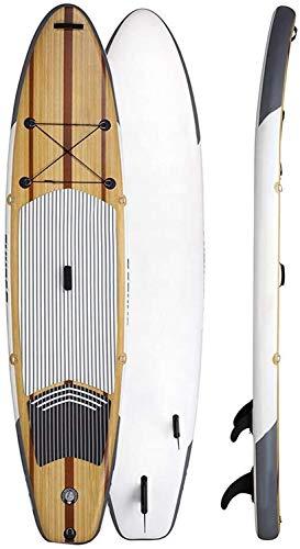 JNWEIYU 2020 Sup Upgrade Stand-up Tabla de Surf, Profesional Intermedio Técnica de Madera Tabla de Surf, adecuadas for el Surf, Yoga Fitness, Pesca, Crucero, Explorando