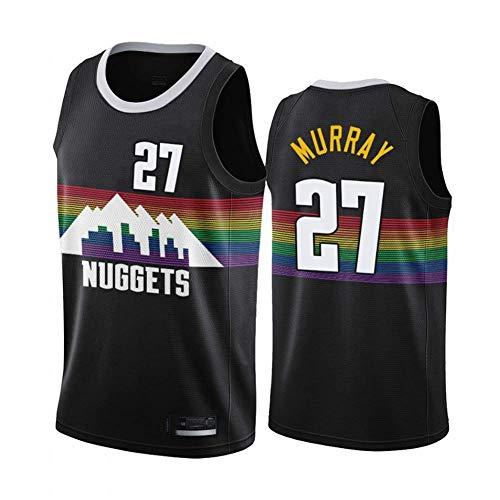 WZ Jamal Murray Jersey di Pallacanestro NBA Denver Nuggets 27# Jersey, Retro Jersey Classic, Ricamato Mesh Felpa, Unisex Fan Jersey,XXL:190cm/95~110kg