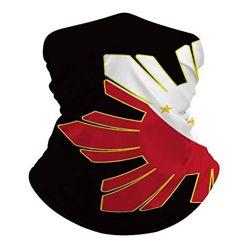 Filipino Flag Outdoor Seamless Face Mask Tube Bandana Multifunctional Neck Gaiter Scarf Headwear
