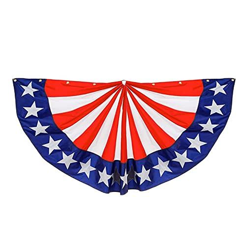 Otherway - Bandera media redonda para el Día de la Independencia estadounidense