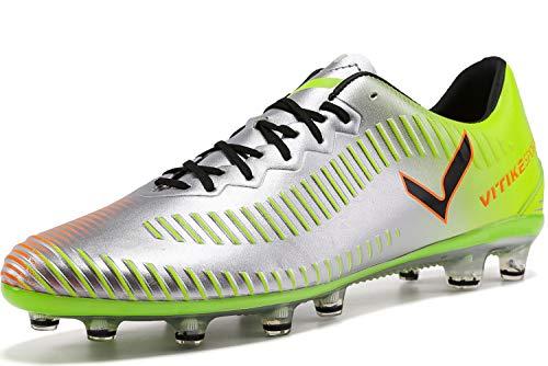 Elaphurus Herren Fußballschuhe Unisex-Erwachsene FG/AG Fußball Schuhe, 1-grün, 40 EU