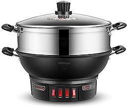 DYB Wok électrique poêle à Frire électrique cuisinière électrique Domestique en Fonte Cuisson Cuisson à la Vapeur ragoût c...
