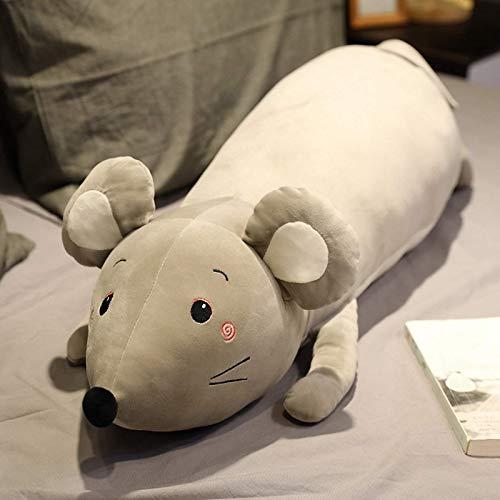 N / A Nettes Maus Plüschtier Weiches Tier Maus Rat Puppe Kissen Kawaii Geburtstagsgeschenk für Kinder Spielzeug Sofa Kissen Kissen 90CM